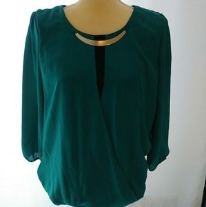 Green womens blouse M